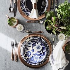 Hammered Copper Charger #williamssonoma
