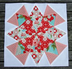 Morning Glory Block---would love to find this block made up using modern techniques