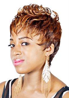 Women's Black Hairstyles: Fabulous Styles – Stylish Hairstyles Cute Hairstyles For Short Hair, Creative Hairstyles, Black Girls Hairstyles, Short Hair Cuts, Wig Hairstyles, Short Hair Styles, Hairdos, Grey Hair Wig, Wigs Online