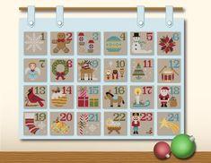 Christmas Advent Calendar Cross Stitch PDF Pattern