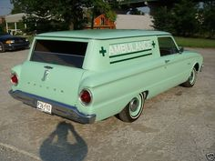 Purchased by the Kirby Lumber Company in 1962 for use as an ambulance. 1 of 1500 sedan deliveries made. Hot Rod Trucks, Old Trucks, Fire Trucks, Chevrolet Sedan, Day Van, Panel Truck, Sprint Cars, Ford Falcon, Sweet Cars