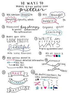 Tips for prettier notes