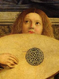 size: Giclee Print: The San Giobbe Altarpiece, Detail of Angel Playing Music, by Giovanni Bellini : Fine Art