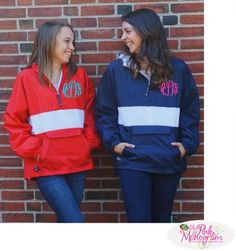 We love the new jacket with a great stripe on the front This jacket is perfect for rainy days There is a large pocket on the front so you can pack
