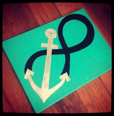Anchor Infinity. would be cute with some sort of Bible verse with it