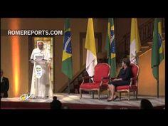 """El #Papa Francisco (@Pontifex_es) en Brasil: """"No tengo oro o plata pero si lo más valioso: ¡Jesucristo!""""."""