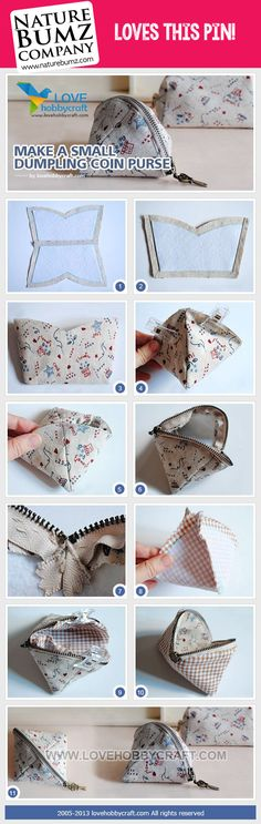 Reuse some of those fabric scraps to make a coin purse!  #weloveit!