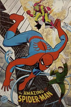 Unreleased Marvelmania Spider-Man poster by Jack Kirby, and the final released poster by John Romita done from the same basic layout. Vintage Comic Books, Vintage Comics, Comic Books Art, Comic Art, Book Art, Amazing Spiderman, Spiderman Art, Marvel Comics Art, Marvel Heroes