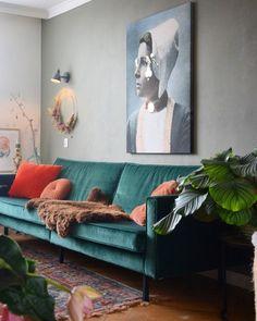 Sofa, Couch, West Village, Interior Inspiration, Living Room, Interior Design, Furniture, Instagram, Home Decor