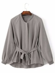 Women Casual Embroidery Bandage Trench Coat