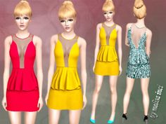 Transparent Frill Dress by Melisa Inci http://www.thesimsresource.com/downloads/1198825