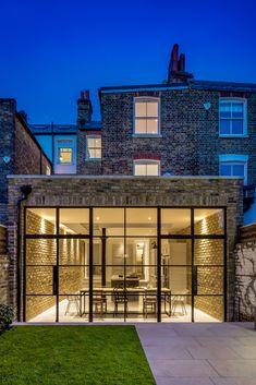 Brick Extension, House Extension Plans, House Extension Design, Glass Extension, Extension Designs, House Design, Crittall Extension, London House, London Townhouse
