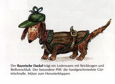 Dachshund Hunter M - German Dog Print - MATTED / NEW