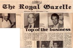 One of two stories about the Armory restaurant complex in Hamilton, Bermuda 1982, where I was Executive Head Chef. A much younger looking me on the top left of the picture. #royalgazette #bermuda #chefkevinashton