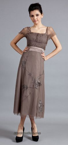 Nataya 40163 Downton Abbey Tea Party Gown Antique Silver Lovely Designs Many Available In Plus Sizes Beware Their Return Policy Does E