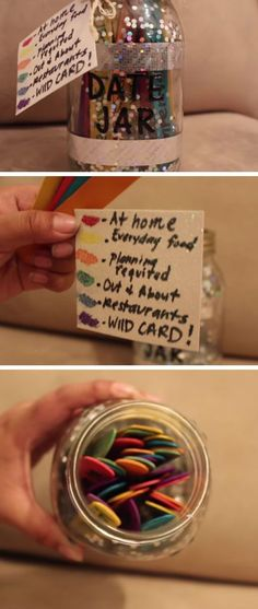 A Year of Dates in a Jar | DIY Christmas Gifts for Boyfriends Ideas | Easy Christmas Gifts for Him on a Budget