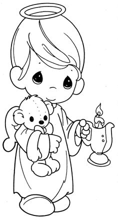 Quiet book: boy angel. Take away candle and put a sign with Jesus love you on it.
