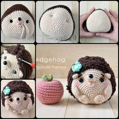 Crochet Hedgehogs with Free Pattern