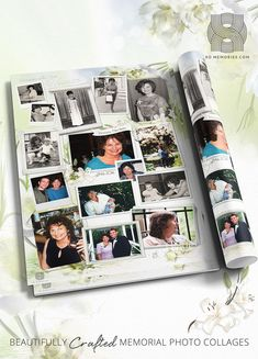 Photos are a powerful source of healing and reflection. We bring them together in a beautiful lasting collage for you. Photo Collage Design, Funeral Memorial, Sympathy Gifts, White Lilies, Your Photos, Reflection, First Love, Polaroid Film, Lily