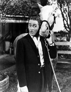 Birthday greetings to actor ALAN YOUNG; he's 96 years old today. best known for his role as Wilbur Post in the television series Mister Ed[ and as the. Hollywood Men, Hollywood Walk Of Fame, Serie Tv Francaise, Mister Ed, Alan Young, Pete Burns, Debbie Reynolds, Winnie, Old Shows
