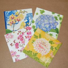 Decoupage Spring Blossom Set  4 Paper Napkins by craftpapersource, $4.00