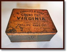 Vintage Tobacco Tin  GODFREY PHILLIPS Grand by thevintagearcade, $38.00