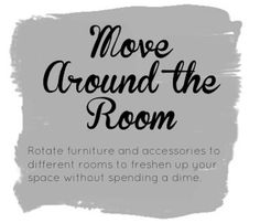 How could you reinvent your space without spending a dime? (via The Home Depot) #furniture #savingmoney #homes #room #tips #DIY #money #hometips