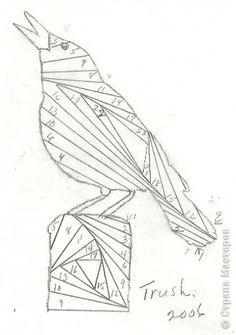 bird - iris folding