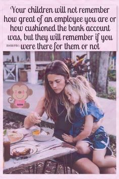 This is something I need to remember when my kids are sick or need momma time.