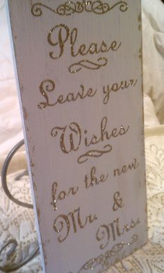 Wedding Guest Book Sign SPARKLY Please Leave by HickoryandLace