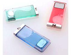 NECの燃料電池携帯『Flask』、透明ライター的なコンセプト