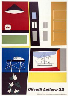 Olivetti Lettera 22 Poster by ninonbooks, via Flickr