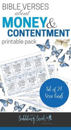 Printable scripture cards about money and contentment that you can keep in your purse and use to stay on track with your finances! Verses For Cards, Scripture Cards, Printable Scripture, Bible Study Tips, Bible Lessons, Christian Post, Christian Women, Christian Living, Christian Quotes