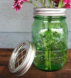Diy Crafts Ideas : DIY Mason Jar Vase Lids