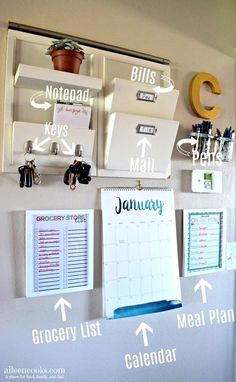 Parent Command Center for Busy Moms is part of Home command center Has clutter got you down Learn how to make your own functional family command center and stop feeling like an overwhelmed parent - Decor Room, Room Decorations, Diy Home Decor, Diy Room Decor For College, Living Room Decor On A Budget, Bedroom Ideas For Couples On A Budget, Home School Room Ideas, Diy Dorm Room, House Ideas On A Budget