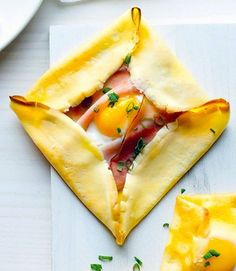 Ham and Egg Crepe Squares , perfect for brunch!