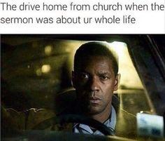 When the sermon hits you hard  #Christian #meme #christianmeme