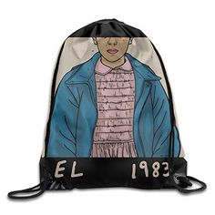 Unisex Stranger Things Eleven Drawstring Bag Drawstring Backpack Sport Bag Gym Bag 100 Polyester Material Travel Bag For Men Women * Read more reviews of the product by visiting the link on the image. (Note:Amazon affiliate link)