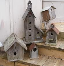 I just love decorative birdhouses... thought these were cute.