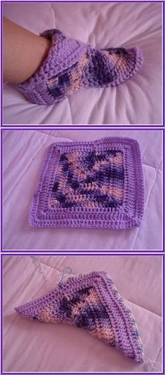 Transcendent Crochet a Solid Granny Square Ideas. Inconceivable Crochet a Solid Granny Square Ideas. Crochet Squares, Crochet Granny, Crochet Stitches, Crochet Baby, Free Crochet, Granny Squares, Crochet Simple, Simple Knitting, Crochet Slipper Pattern