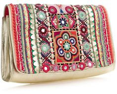 shelly mirror work clutch Accessorize Uk