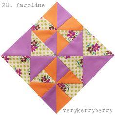 verykerryberry: Farmer's Wife QAL Blocks 19 & 20: Carolina and Caroline