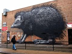 Spitalfields - The mighty hedgehog on Chance Street.