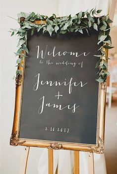 Printable Welcome Sign Wedding Welcome Sign Chalkboard