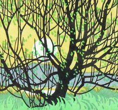 A.J. Casson - Grenadier Pond (Linocut)