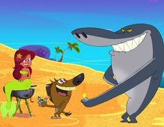 Zig, Marina, and Sharko