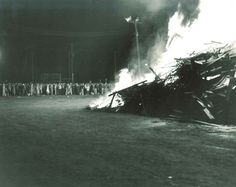 1956 University of Minnesota Homecoming Bonfire Flames