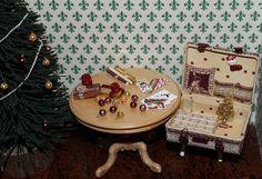 Miniature vintage Christmas suitcase & New Year от IreeMiniature