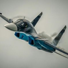 Sukhoi Fullback by militarytopics Su 34 Fullback, Russian Fighter Jets, Birds In The Sky, Russian Air Force, Air Fighter, Sukhoi, Aerial Arts, World Of Tanks, Aeroplanes