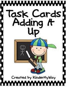 Task Cards - Adding It Up Set of 60 color coded addition cards